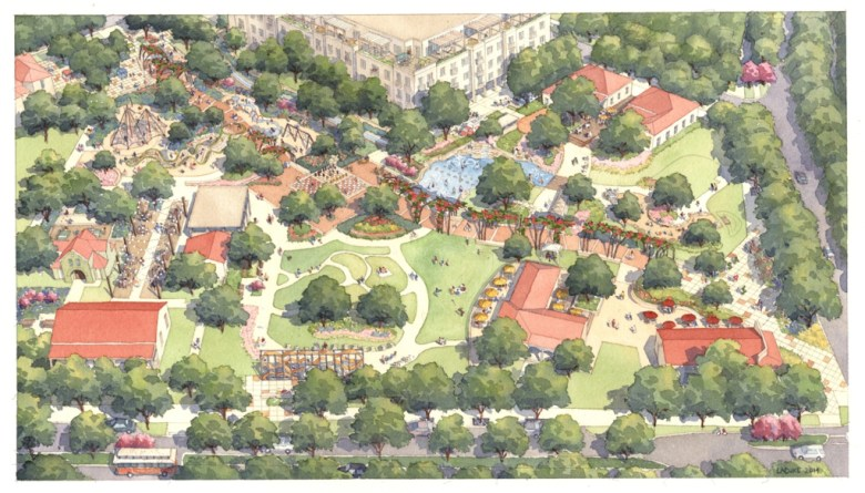 Yanaguana Garden rendering. Image courtesy HPARC.