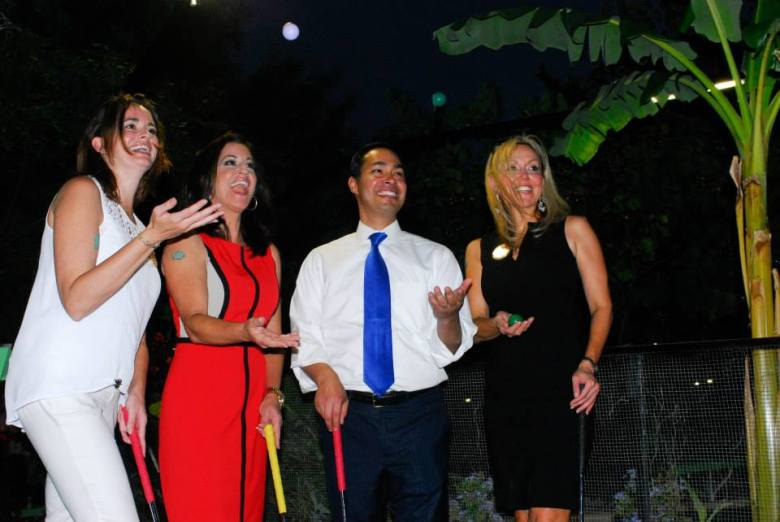 Then-Mayor Julián Castro participates in 2013's Cool Crest Tournament. Courtesy photo.