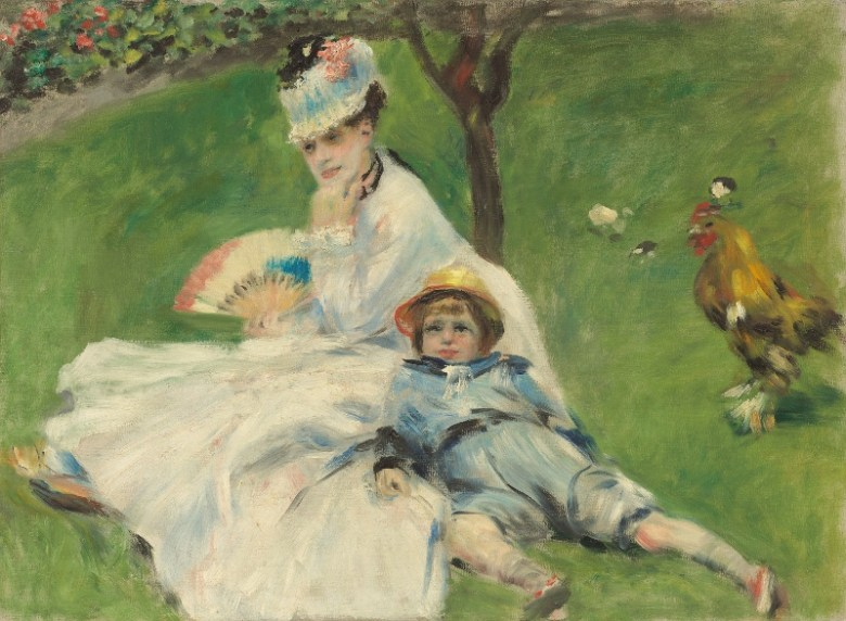 Auguste Renoir, Madame Monet and Her Son, 1874. Oil on canvas. National Gallery of Art, Washington, DC, Ailsa Mellon Bruce Collection.