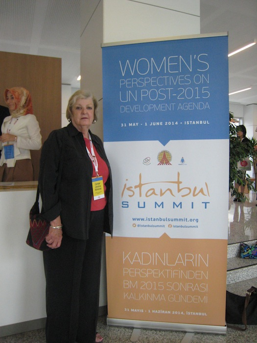 Dr. Jessica Kimmel, University of the Incarnate Word Professor of Education at the Istanbul Summit. Photo by Martha Kirk.