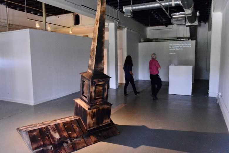 Lost Pines and the Dying Words installation at Fl!ght Gallery. Photo by Page Graham.