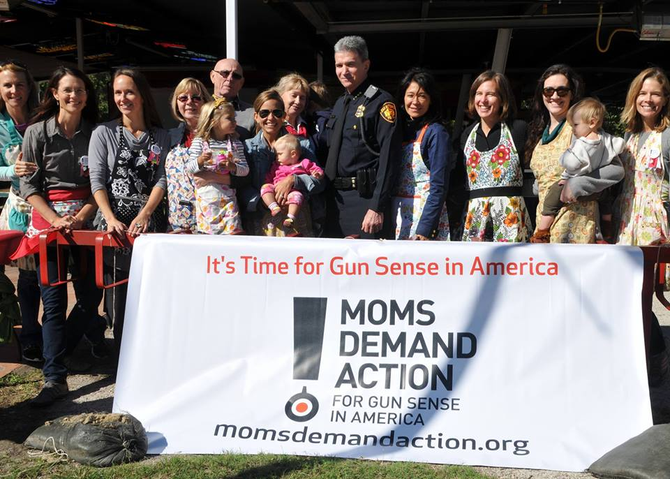 San Antonio Moms Demand Action members stand with San Antonio Police Chief William McManus at their Gathering for Gunsense in October of last year.