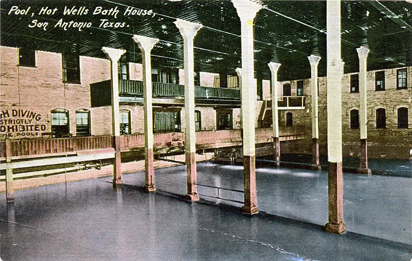 An undated Hot Wells Bath House post card. Public domain image.