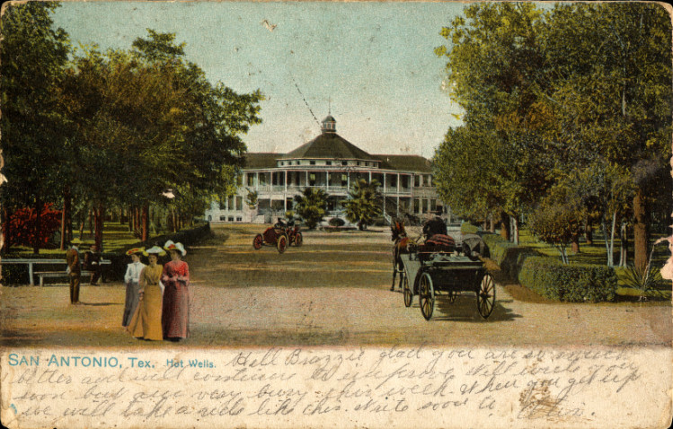 An undated Hot Wells Hotel and Spa postcard. Public domain image.