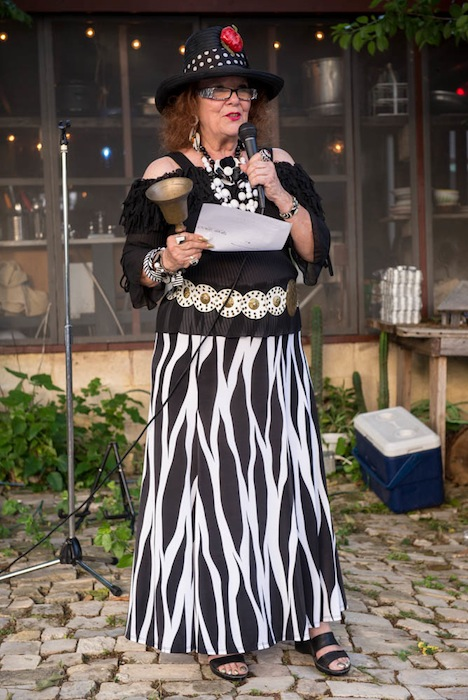 Conservancy President Yvonne Katz at The Hot Wells Conservancy's 2014 Harvest Feast fundraiser event on June 18, 2014. Photo by David Rangel.