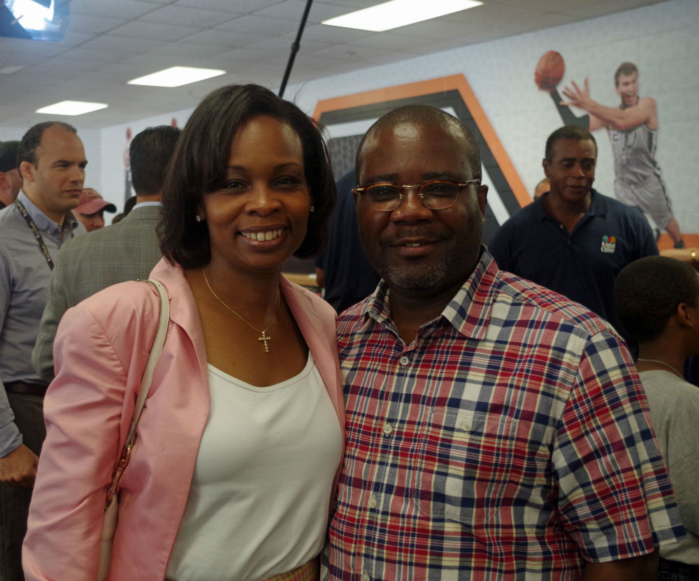 Ivy and Rodney Taylor attend the Spurs Giving Back event at Bowden Elementary School in June 2014. Photo by Juan Garcia.