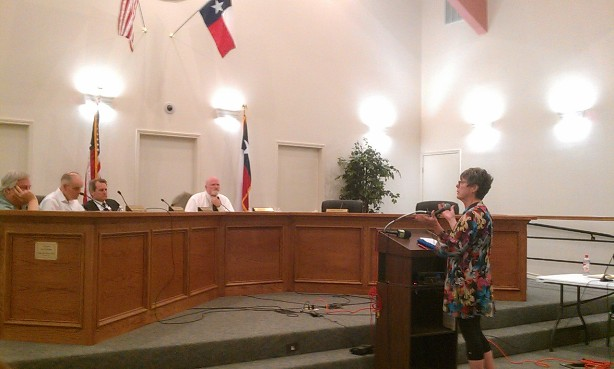 Citizens address the Castle Hills City Council on the matter of stopping VIA service. Photo by Andrew Moore.