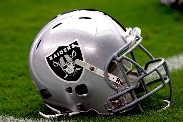 Oakland Raiders' helmet. Photo courtesy of the Oakland Raiders.
