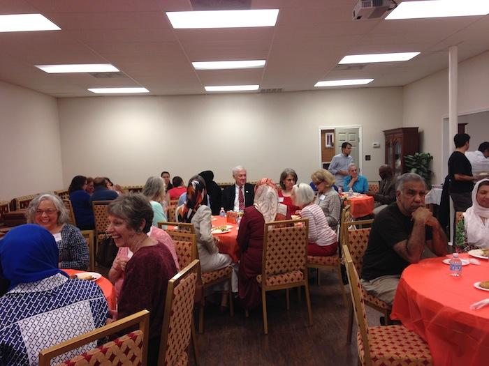 Guests meet during a Ramadan dinner at Raindrop Turkish House. Photo by Martha Ann Kirk.