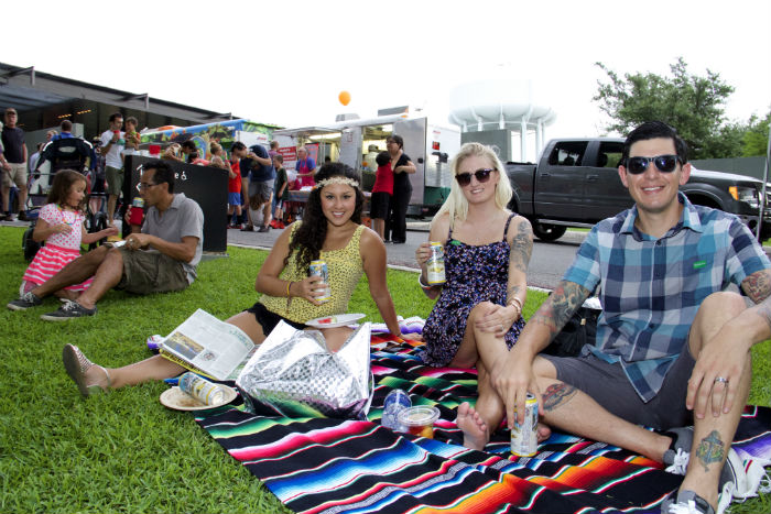 Guests attend a Second Thursday event at the McNay Art Museum. The monthly event features free admission with food and beer for purchase. Photo by Tommie Ethington.