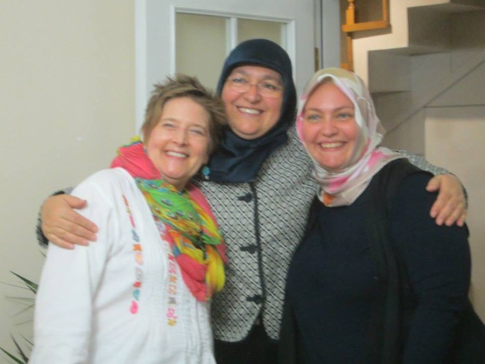Mary Margaret Lobb, Dr. Figen Es, and Dr. Gül?ah Gülal in Es's home in Istanbul. Photo by Jessica Glover.