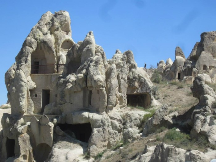 Homes and churches carved into the rock at Göreme Open Air Museum in Cappadocia. Photo by Jessica Glover.