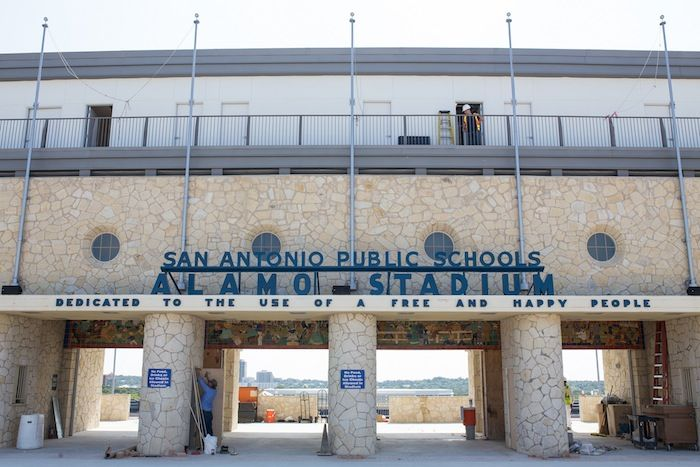 The Alamo Stadium entrance. Photo by Scott Ball.
