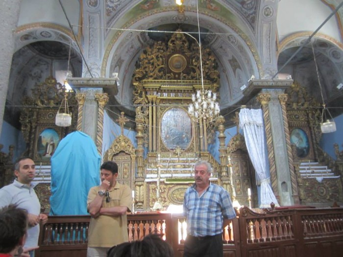 Mehmet Oguz, a local host, and the caretaker in St. Gregory Armenian Church. Photo by Jessica Glover.