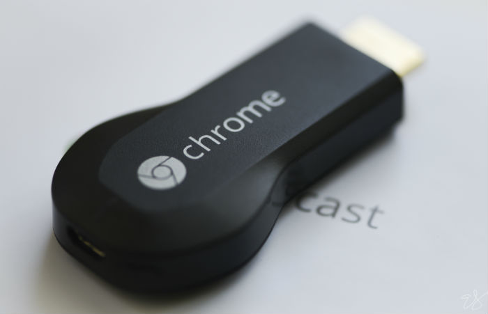 A Chromecast dongle can broadcast streaming sites on a television useing WiFi. Photo by EricaJoy, licensed under Creative Commons.