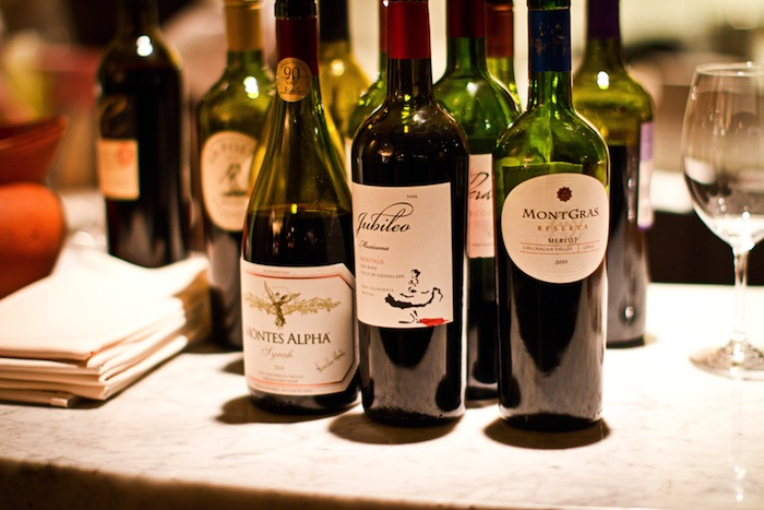 A sampling of wines served at NAO as a compliment to their Restaurant Week menu.