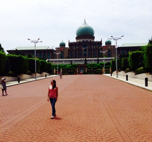 Exploring Perdana Putra on the main hill in Putrajaya. The building is a symbol of Malaysia's executive branch. Courtesy photo.