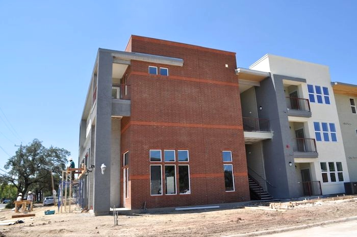 Clubhouse under construction at the San Juan development. Photo by Iris Dimmick.