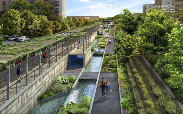 An artist's rendering of what San Pedro Creek could become. For visualization purposes only, this is not a design. Photo courtesy of SARA.
