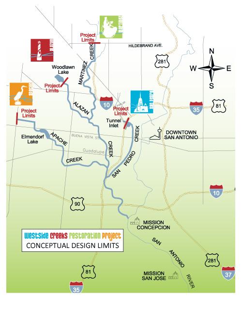 westside creekway projects map san pedro