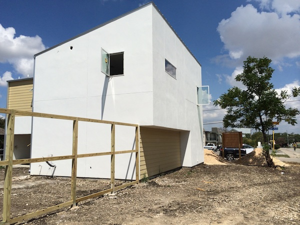 """A """"green"""" home in Alamo Heights under construction. Photo by Katherine Nickas."""