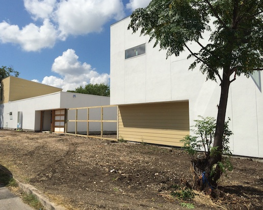 A green home under construction in Alamo Heights. Photo by Katherine Nickas.