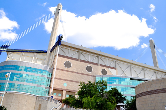 The Alamodome side entrance. Photo by Iris Dimmick.