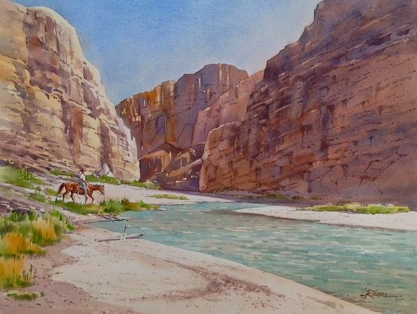 Watercolor by Lee Ricks.