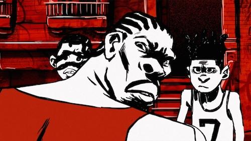 Scene from Crime – The Animated Series. Image courtesy Sam Chou.