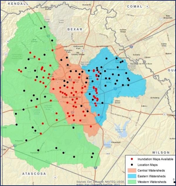 FloodWorks' points of interest map.