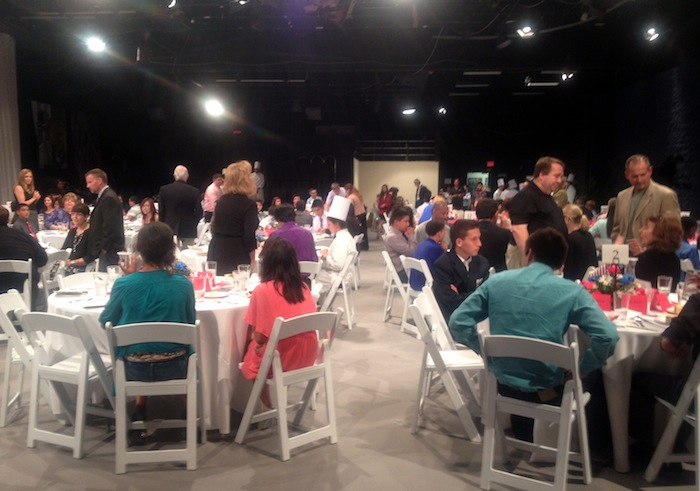 The evening's events get underway at KLRN's studios. Photo by Lily Casura.