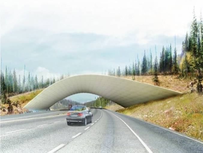 An example of a land bridge, similar to that that will be installed at Hardberger Park. Image courtesy of the Phil Hardberger Park Conservancy.