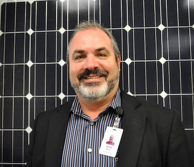 Mission Solar Energy's Executive Vice President of Manufacturing Operations Brad Miles. Photo by Iris Dimmick.