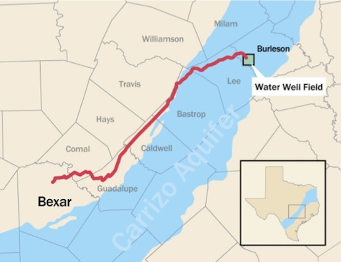 Map of the Vista Ridge pipeline.