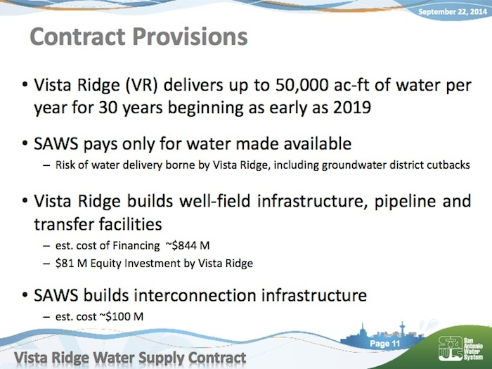 From SAWS President and CEO Robert Puente's presentation to the board on Sept. 22.