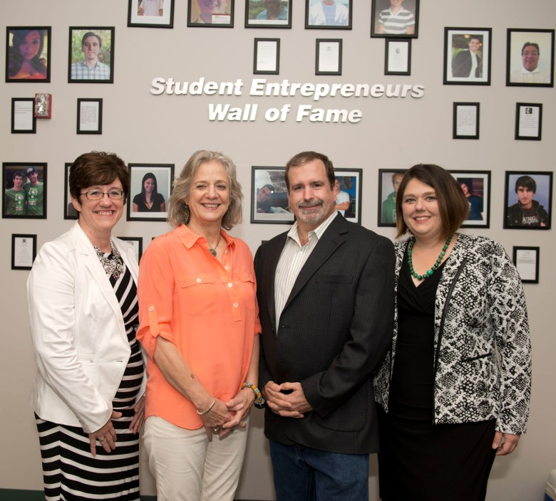 Becky Cap, Anita Leffel, William Tolhurst, and Paula Waggoner of San Antonio TechBoosters