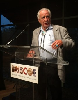 Ben Nighthorse Campbell speaks about creating Indian art and jewelry at the Briscoe Western Art Museum. Courtesy photo.