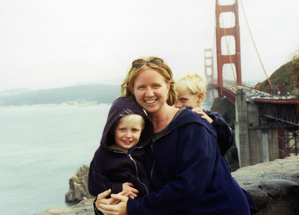 Liza Long and her two sons.