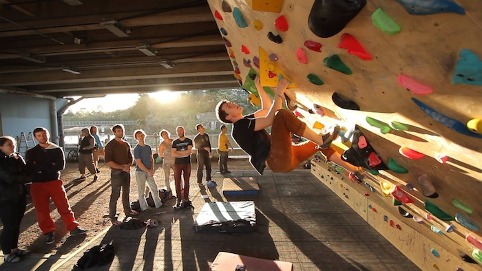 In Victoria, Australia, bouldering walls have been installed under highways. Photo Courtesy of Burnley Bouldering Wall.