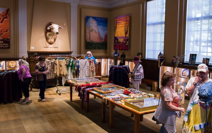 A display of native garments at The Briscoe Western Art Museum at the Inaugural Yanaguana Indian Arts Market. Photo by Scott Ball.