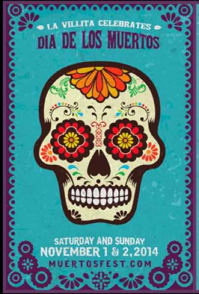 La Villita will celebrate El Día de los Muertos Nov. 1 and 2. Image courtesy of Muertosfest.