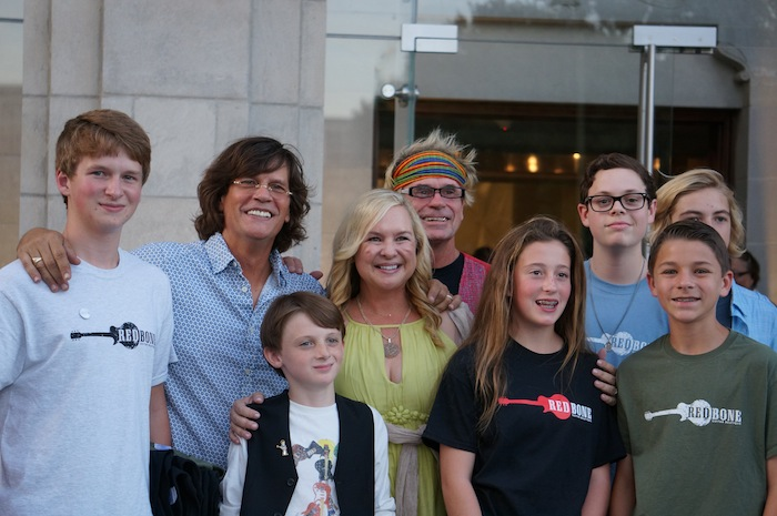 "Richard Turner (second from left), longtime host of ""The Best of the Beatles"" on KSYM 90.1 and one of the sponsors of the concert, poses for photo with family and friends before meeting Paul McCartney at the Tobin Center. Photo by Alan Weinkrantz."