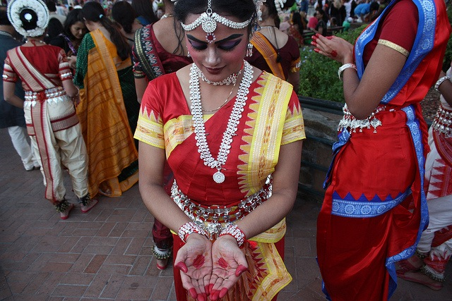 Painted symbols are meant to emphasize the dancer's hands and feet - both are key during the Indian dance routines. during the 2013 Diwali San Antonio festival. Photo by Kay Richter.