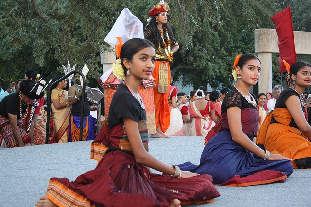 Young women perform on stage during the 2013 Diwali San Antonio festival. Photo by Kay Richter.