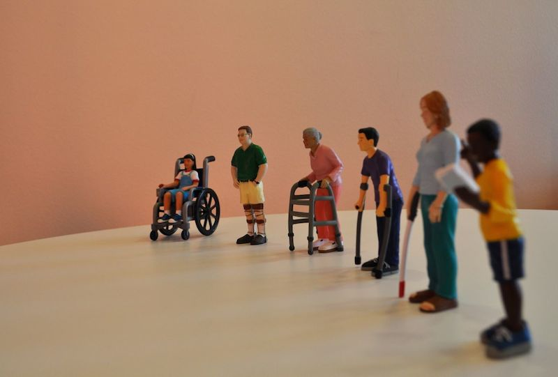 Small figurines are used in therapy sessions at CRIT USA. Photo by Iris Dimmick.