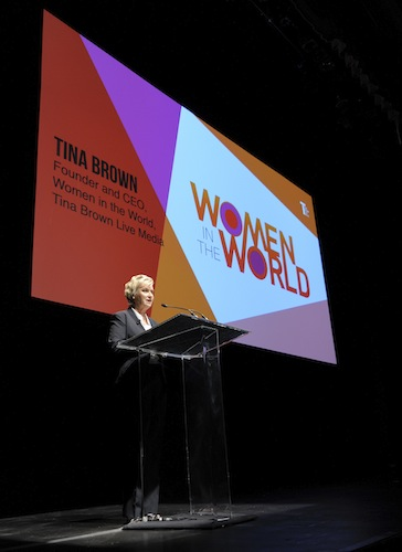 Tina Brown, founder and CEO of Tina Brown Live Media and Women in the World. Photo by Robin Jerstad/DA Media for Women in the World.