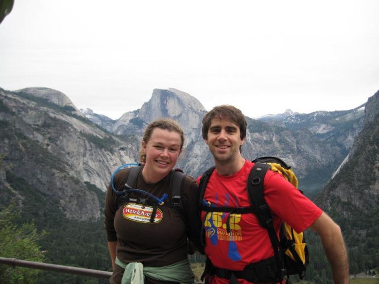 Married people hike. Bekah and Lewis McNeel at Yosemite National Park, courtesy photo