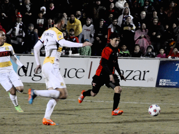 The NASL Championship game was heavily contested as both the San Antonio Scorpions and Fort Lauderdale Strikers played to a defensive draw till the second half. Photo by Kristian Jaime.