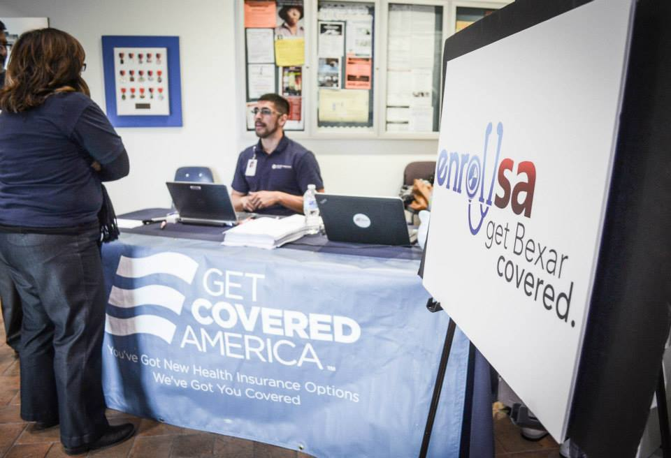 An informational booth provided essentials about the EnrollSA's coalition. Photo courtesy of SA2020.