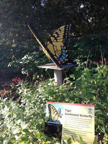 Artist Sean Kenney's LEGO butterfly at the San Antonio Botanical Garden. Photo by Robert Rivard.